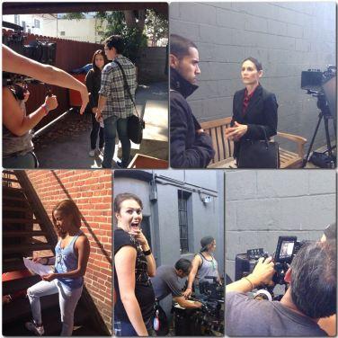 Melanie Martin on Set Short Film Hollywood Actress