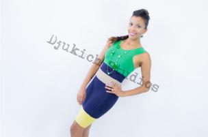 Green Dress Modeling - Melanie