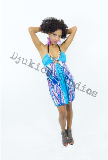 Turquoise Dress Modeling - Melanie
